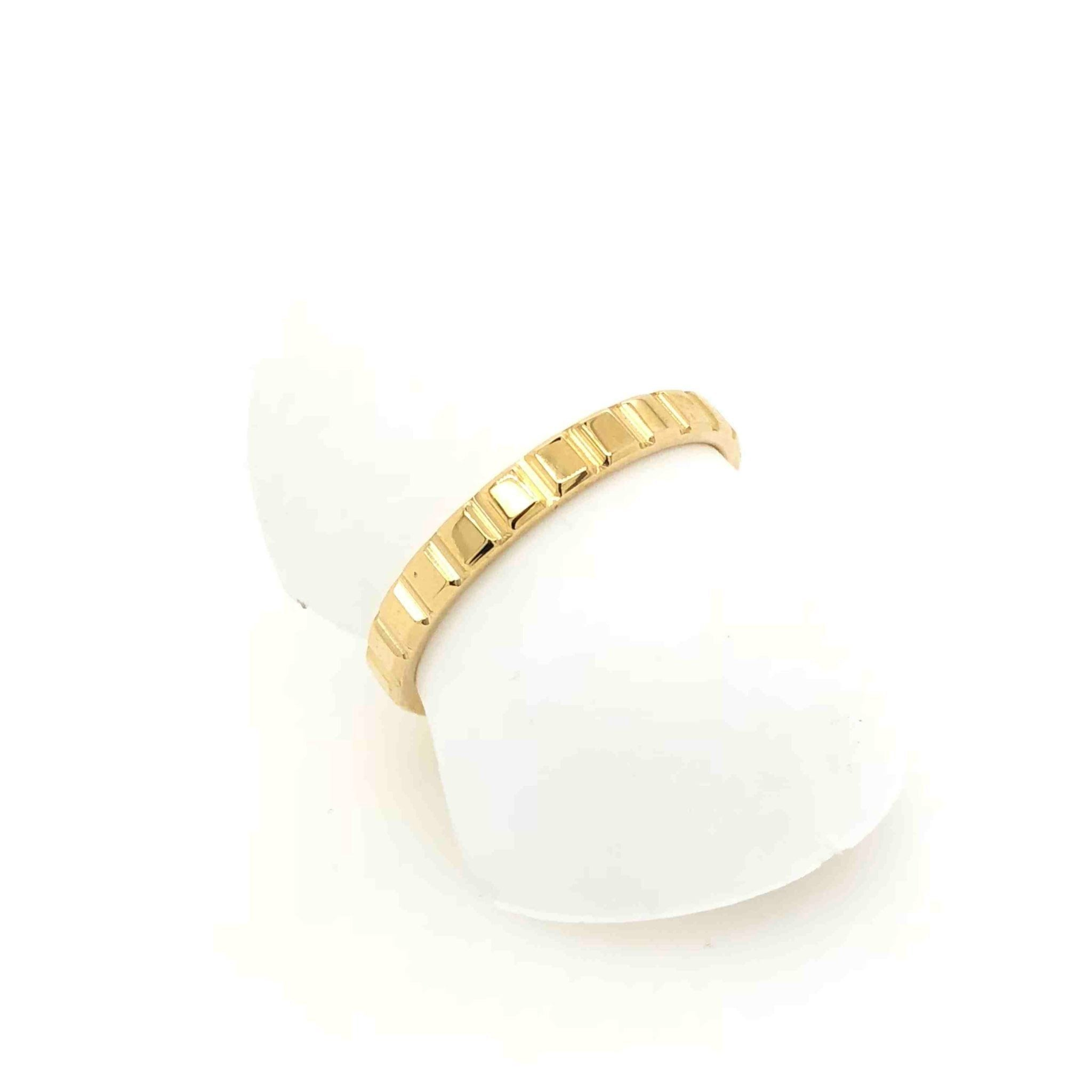 Stacker Bands: Stacker Blox Ring 9ct Yellow Gold