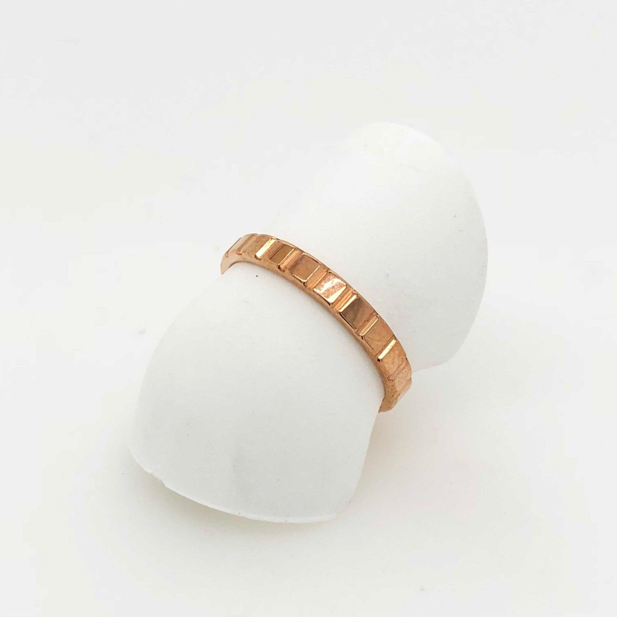 Stacker Bands: Stacker Blox Ring 18ct Rose Gold