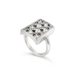 Chess Board Vintage Ring