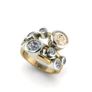Champagne Diamond Bubble Ring